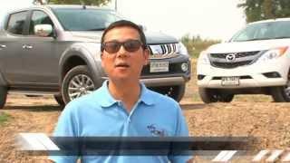 getlinkyoutube.com-Test Mitsubishi Triton vs Nissan Navara vs Mazda BT-50 by AUTO BILD Thailand.