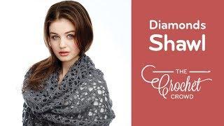 getlinkyoutube.com-How to Crochet A Shawl: Shine Like Diamonds