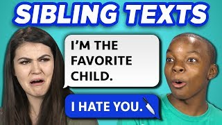 10 FUNNY BROTHER SISTER TEXTS w/ Teens & College Kids (REACT) width=