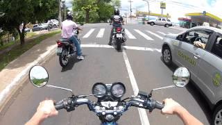 getlinkyoutube.com-Titan Azul ( Heitor nas filmagens ) / Vem CBR 250 vem ! / Grau no corredor ? !