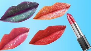 getlinkyoutube.com-Renkli Ruj Yapımı 2 | Parlatıcı Yapımı | Makyaj Videoları | Nasıl Yapılır | UmiKids