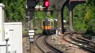 getlinkyoutube.com-South West Trains at speed through Surbiton