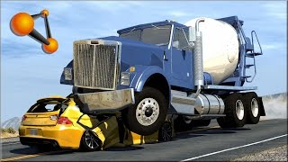 getlinkyoutube.com-BeamNG.Drive Trucks Vs Cars #5