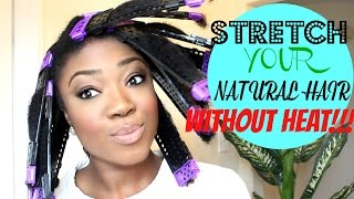 getlinkyoutube.com-STRETCH YOUR NATURAL HAIR WITHOUT HEAT | REVIEW CWK SSS PLATES