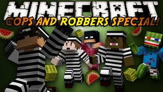 Minecraft Mini-Game : COPS N ROBBERS! (WATERMELON MASSACRE!)