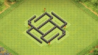 "getlinkyoutube.com-Clash of Clans - TH5 Hybrid ""Trap"" Base."