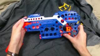 getlinkyoutube.com-Mod: Nerf Waffle Stryfe (The lightest flywheel blaster ever)