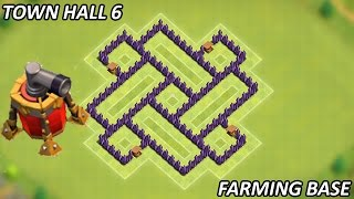 getlinkyoutube.com-Clash of Clans - Best Town Hall 6 (TH6) Farming Base w/Air Sweeper