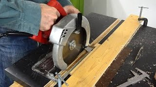 getlinkyoutube.com-Miter slots for the homemade  table saw