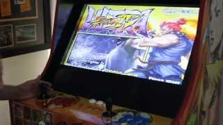 getlinkyoutube.com-Street Fighter Arcade Cab -  MAME Hyperspin  Setup