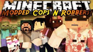 getlinkyoutube.com-Minecraft Modded Cops N Robbers : THE WALKING DEAD!