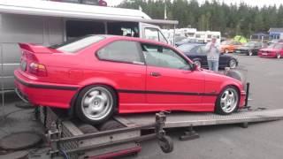 BMW 96' 320i at dyno TA-Technix exhaust.