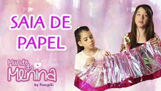 getlinkyoutube.com-Saia de papel com Carol Santina e Ana Carolina ❤ Mundo da Menina