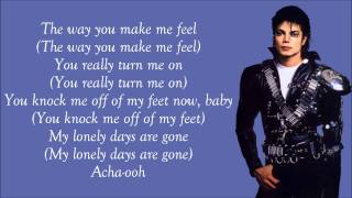 getlinkyoutube.com-Michael Jackson - The Way You Make Me Feel Lyrics Video