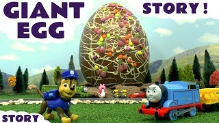Paw Patrol GIANT EGG Prank with Thomas The Tank Engine Minions Cars McQueen and Peppa Pig TT4U