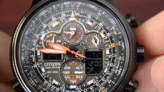 getlinkyoutube.com-Citizen Navihawk JY8035-04E Review