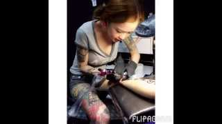 getlinkyoutube.com-Kinki Ryusaki(Female Tattoo Artist)
