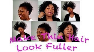 getlinkyoutube.com-Style Thin, Fine, Low Density, Natural Hair to Look Fuller