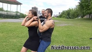 getlinkyoutube.com-Defense against a Choke from Behind - Women Self Defense