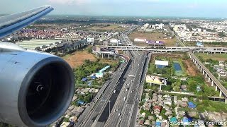 getlinkyoutube.com-Landing in Bangkok Airport. Boeing 777-200. Thai Airways Flight TG322. Rolls Royce Trent Engine