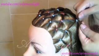 getlinkyoutube.com-peinado de red y trenza en forma de corazon/hairstyle mains with links