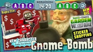 getlinkyoutube.com-Rugby Star gets the Gnome Bomb! Spectacular Pack Rare Character Unlocked PVZ Garden Warfare