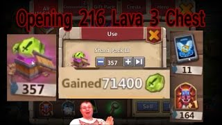 getlinkyoutube.com-Castle Clash Opening 216 Lava 3 Chest with Crazy Rewards