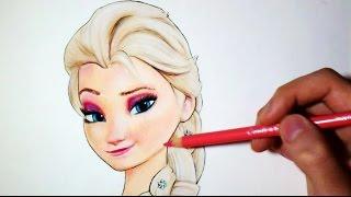 getlinkyoutube.com-Comment dessiner Elsa : La Reine des neiges [Tutoriel]