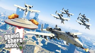 getlinkyoutube.com-GTA 5 PC Mods - ALIEN UFO INVASION APOCALYPSE MOD! GTA 5 ARMY vs ALIENS Mod! (GTA 5 Mod Gameplay)