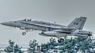 getlinkyoutube.com-F-15, F-16, F-18 Aircraft Takeoff At Korean Air Base