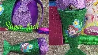 getlinkyoutube.com-Dulcero fácil, lindo y original de la Sirenita, birthday bag
