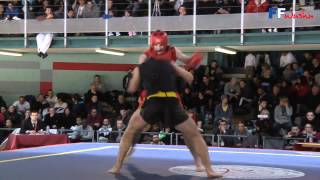 getlinkyoutube.com-Championnat de France 2012 de Wushu Sanda / Finale -75 kg / Yoan benbedra Ascencio vs Nathan Issaad