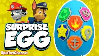 getlinkyoutube.com-SURPRISE EGGS Paw Patrol Nickelodeon Toys Chase Ryder Marshall Learn Colors an Educational Kid Video