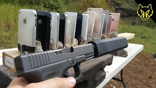 getlinkyoutube.com-Will a Glock 19 Shoot Through Every iPhone Ever?