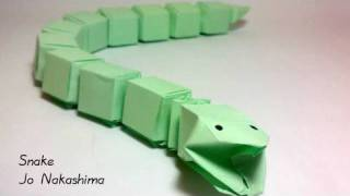 getlinkyoutube.com-Origami Snake (Jo Nakashima)