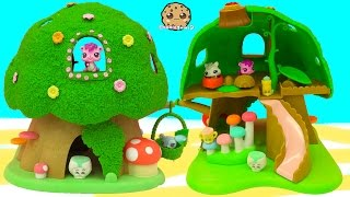 getlinkyoutube.com-Calico Critters Treehouse Playset Video with Littlest Pet Shop + Shopkins Season 2 Fluffy Babies