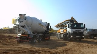 Mercedes Arocs concrete equipment show