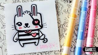 Cute Pirate Bunny - How To Draw Kawaii by Garbi KW