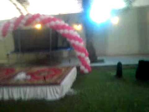 حفلات سابع نسائي ديكور باونات جميل بالون بالون |روافد للحفلات#
