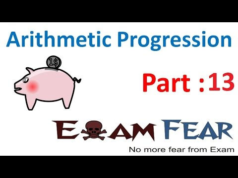 Maths Arithmetic Progression part 13 (Example and Summary) CBSE class 10 Mathematics X