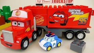 getlinkyoutube.com-Lego Cars Truck Block car and Robocar Poli car toys