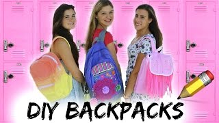 Back to School: DIY Backpacks + Giveaway!