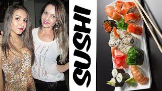 getlinkyoutube.com-Mãe e filha maquiando + Comendo Sushi