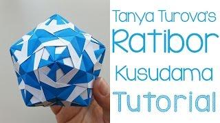 getlinkyoutube.com-Origami Ratibor Kusudama Tutorial