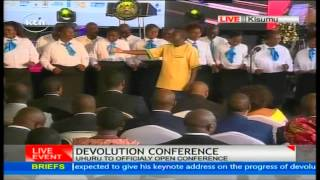 Kisumu County choir perform traditional song