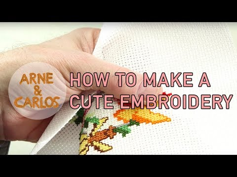 How to make a cute embroidery for Easter by ARNE & CARLOS