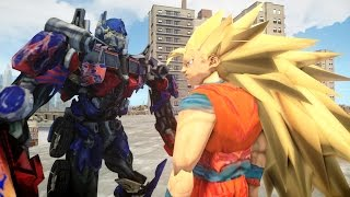 GOKU VS OPTIMUS PRIME (Transformers) - EPIC BATTLE