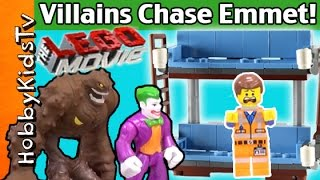 getlinkyoutube.com-LEGO MOVIE Double Decker Couch Build +Joker DC Villains Chase LEGO Emmet! By HobbyKidsTV