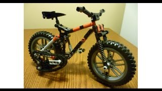 getlinkyoutube.com-Lego Technic MTB - bicycle building instructions - Specialized Safire Mountain bike