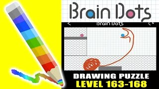 getlinkyoutube.com-Brain Dots - Draw and Solve : Level 163-168 - Easy Way To Win (ios Gameplay)
